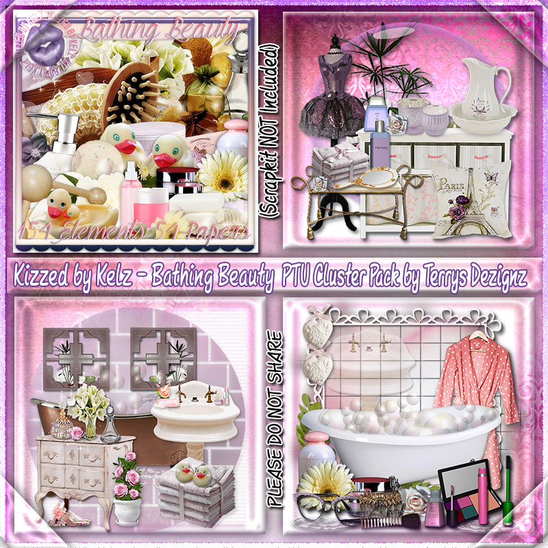 Bathing Beauty Cluster Pack