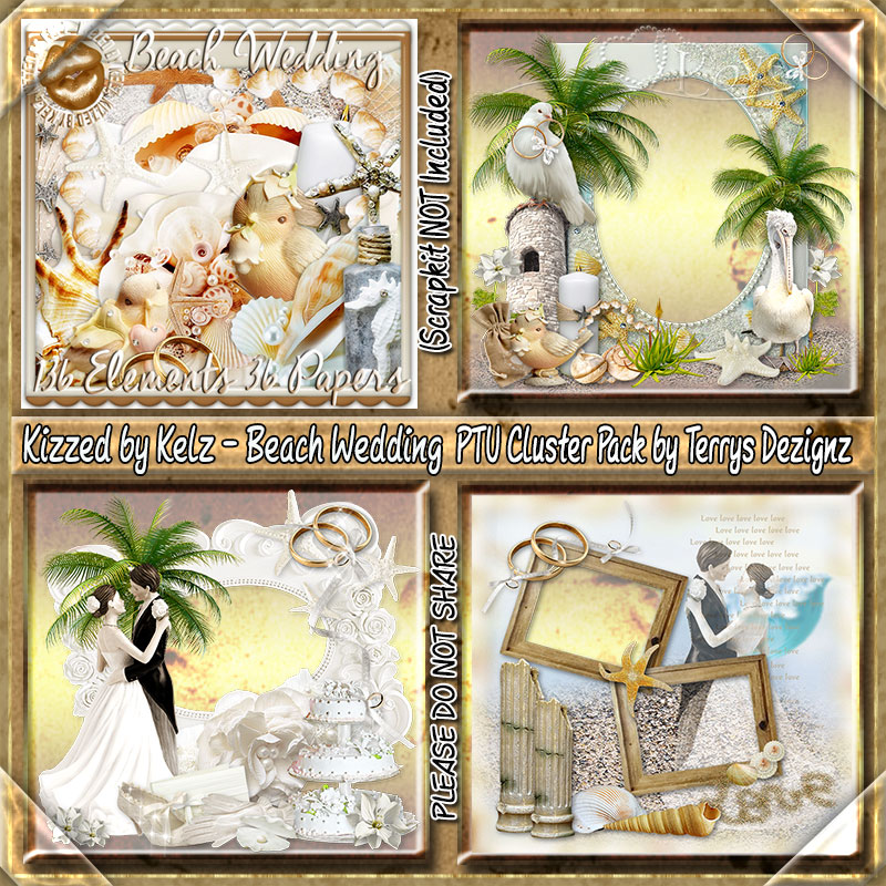 Beach Wedding Cluster Pack