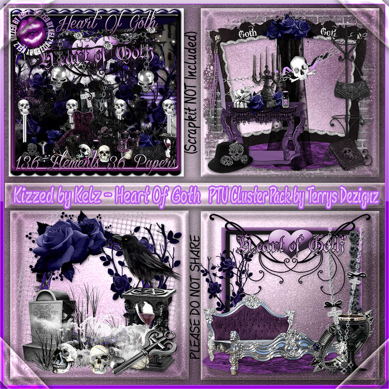 Heart Of Goth Cluster Pack
